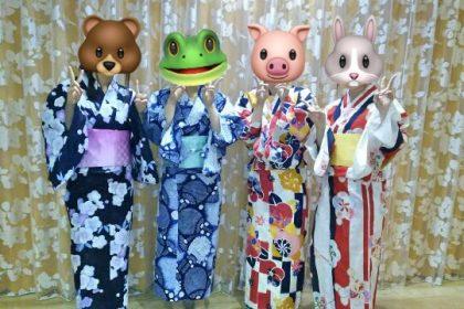 学生たちが浴衣で米沢の花火大会へ