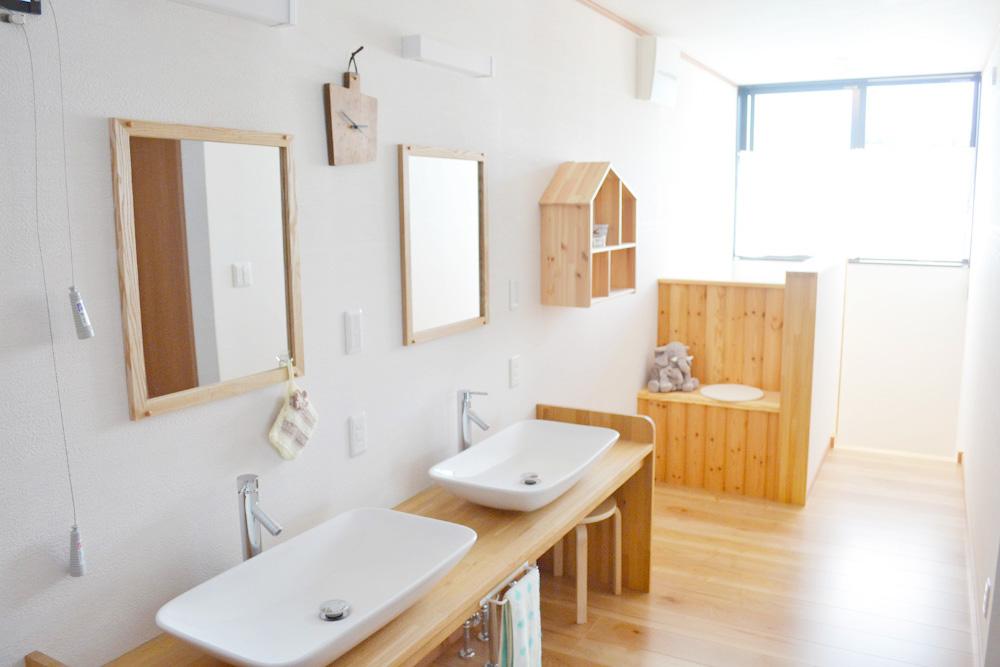 シェアハウス(共有居住スペース)2F洗面