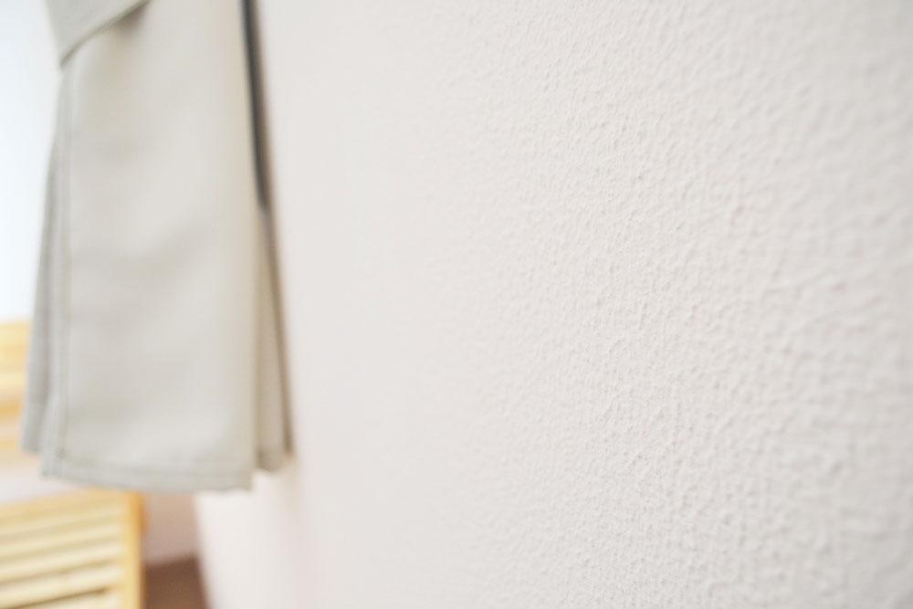 アパートのようなひとり部屋 漆喰壁
