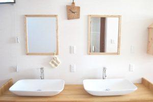 米沢女子短期大学・米沢栄養大学生 女性専用シェアハウス「ぴーちぇすハウス」2F洗面台