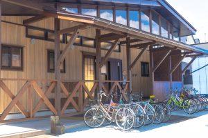 入居学生用の共用自転車