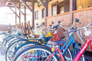 シェアハウスの共用自転車